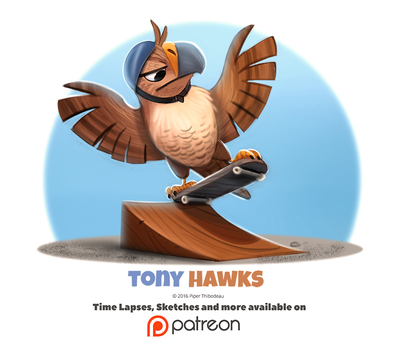 Day 1396. Tony Hawks by Cryptid-Creations