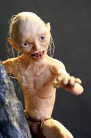 Gollum Action Figure - Polymer Clay HANDMADE by frybla