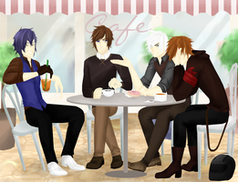 First Cafe Outing by Caerulia