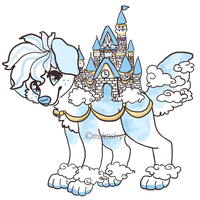 AUCTION Disney Castle Dog CLOSED by makashy