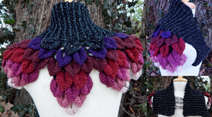 Nebula Inspired Leaf Capelet by Arexandria