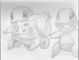 Starter Pokemon -G1- by PaoloNormalState