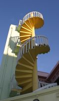 Spiral Staircase 1 by Rivendell-PhotoStock