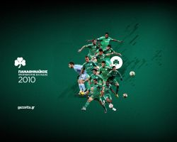 panathinaikos champion wall. by wedia