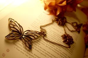 Butterfly Necklace by v-allegrini