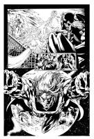 Avengers By Deodato inks by Curiel by lobocomics