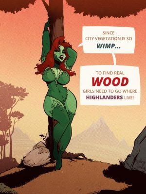 Poison Ivy - Wood - Cartoon PinUp by HugoTendaz