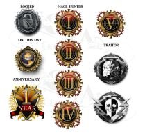 Achievement badges  2 by VickiBeWicked