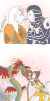 SMITE - Pocky, Pig, Dates and Snakes. by Neko-mirichan