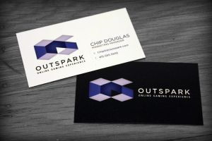 OutSpark Logo - Redesign - Business Card by ExileOC