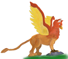 Gryphon in color by RachBurns