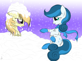 Playing in the Snow by V-D-K