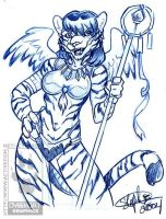 Blue Pencil Winged Tigress by lady-cybercat