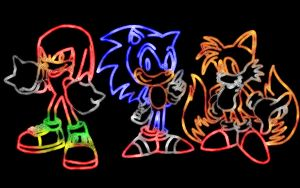 Sonic Trio - Neon Lights by 5w15h