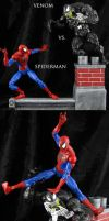 Spiderman vs Venom Marvel Legends by Jin-Saotome