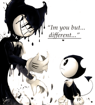 Bendy meets his other side by Kirby-Popstar