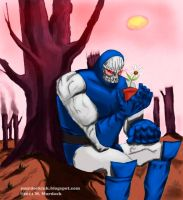 Darkseid Likes Flowers by Moebocop