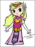 Toon Zelda Colouring by enjoytheride201