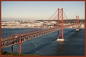 25 April Bridge Lisbon Portugal by Tigles1Artistry