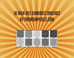 10 High Res Sunburst Brushes by ormanclark