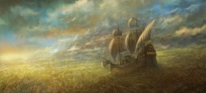 """ The Great Grass Sea "" by sabin-boykinov"