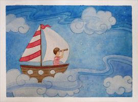 Sailing the Starry Skies by sarah-d-anderson