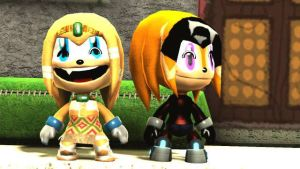 Tikal and Shade in LBP 2 by SonicsShadowisSilver