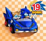 Collab:Happy Birthday Sonic by chickenoverlord