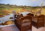 African Theme Mural for Nursery II by SYoshiko