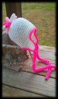 Curly Q Ear Flap Beanie by xKornsFreakx