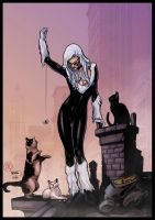 black cat and friends by logicfun