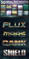 50 Metal Text Effects 4 of 5 by fluctuemos