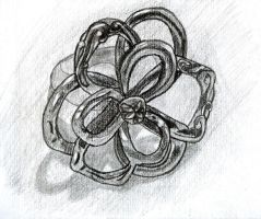 Terri's Silver Ring in Graphite Pencil by ChrisDutton