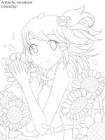 himawari sunflower by excaliburer