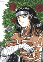 Neji and a bush of roses by lucrecia