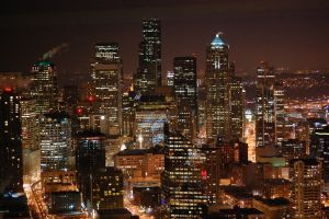 Christmas Seattle Skyline by Bspacewiz2