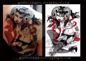 demon tattoooos by glittersniffer