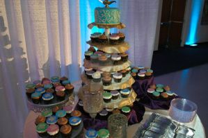 Moroccan Wedding Cupcake Tower by LoveandConfections