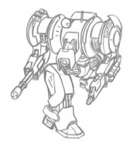 Mecha sketch by Luches