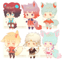 Auction : Mini-Chibi Batch 1 [CLOSED] by HyRei