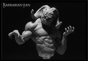 Demon WIP by BarbarianFanSculpt