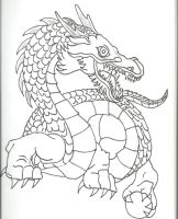 Uncolored Eastern Dragon 001 by hereisevil2