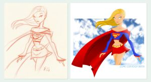 Supergirl - Comic Con Sketch by thisisanton
