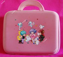 Hand painted Majokko laptop case by SimonaZ