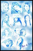 Blue Portraits by tazky