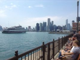 Navy Pier's Chicago view II by SpiderSong