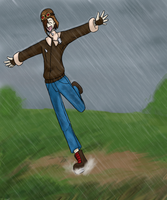 Puddle Jumping by TheDemonSurfer