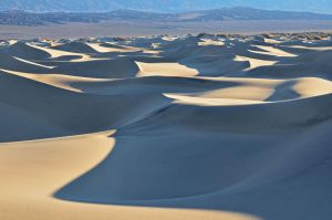 sand dune shadows death valley by yo13dawg