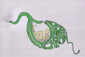 Typography snake by Devin87