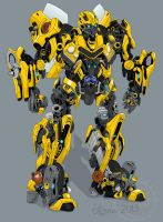 Bumblebee colored version by isterini